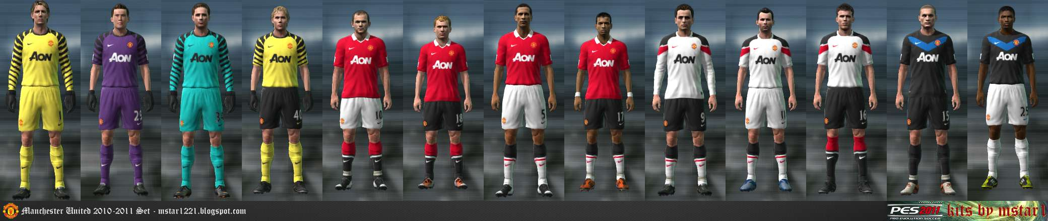 more photos ea368 360f3 Manchester United 10-11 - Pro Evolution Soccer 2011 at ...