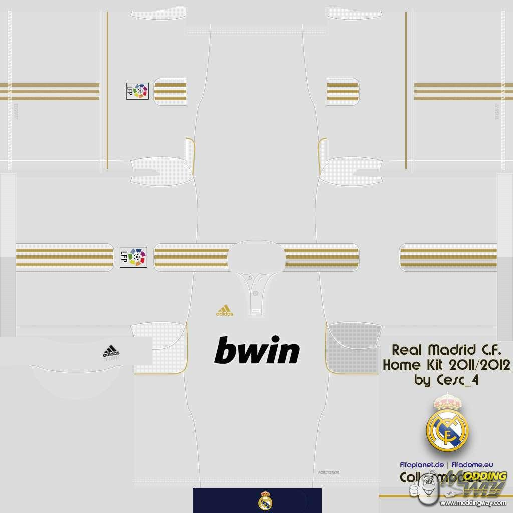 1afd9dff78e Real Madrid 11-12 Home Kits Pack - FIFA 11 at ModdingWay