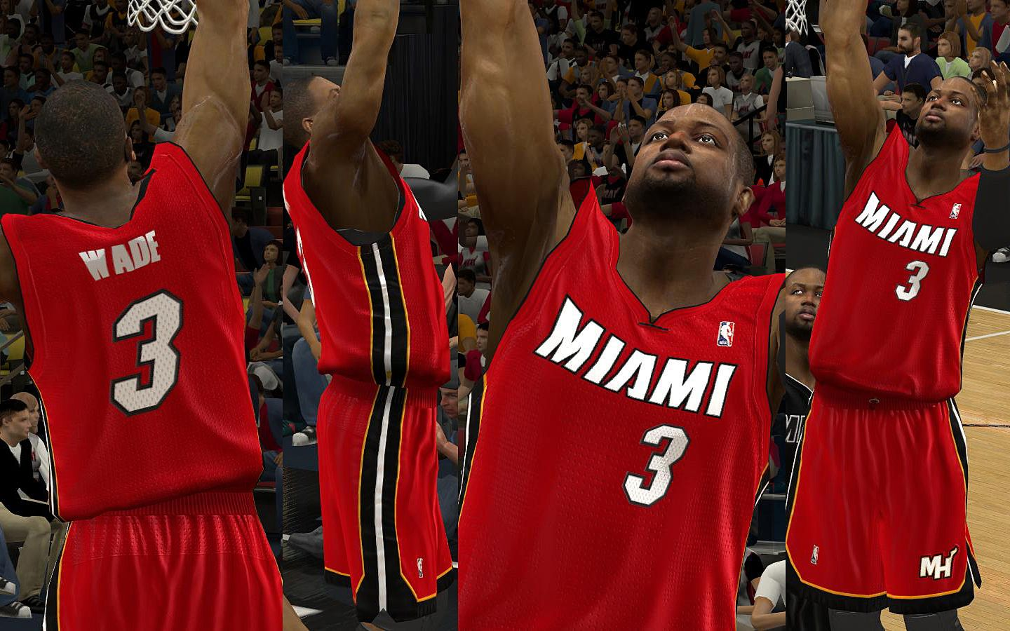 wholesale dealer 6bfd5 deb85 Miami Heat Jersey V.1.5 (Back in Black Jersey & New Warmups ...