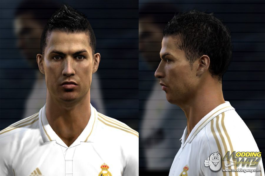 Cnaldo New Hd Face Hairstyle Pro Evolution Soccer 2012 At