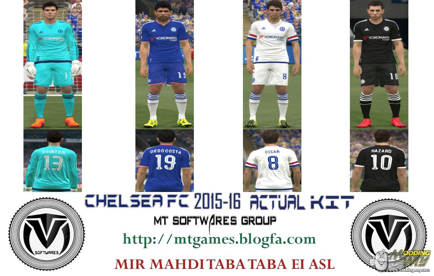 a50965d338c Chelsea FC 2015-16 Kit by MT Games - Pro Evolution Soccer 2015 at ModdingWay