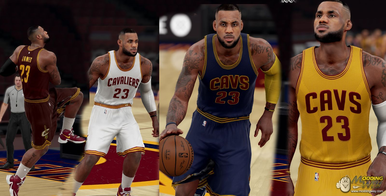 best sneakers 8b91e c9639 Cleveland Cavaliers Jersey Pack Released! - NBA 2K16 at ...