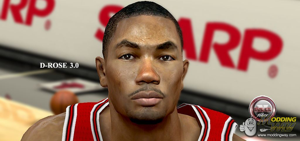 Derrick Rose Cyber Face 30 Nba 2k12 At Moddingway