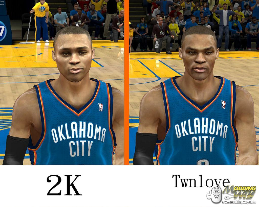 9eb16d738 Russell Westbrook Cyber Face - NBA 2K12 at ModdingWay
