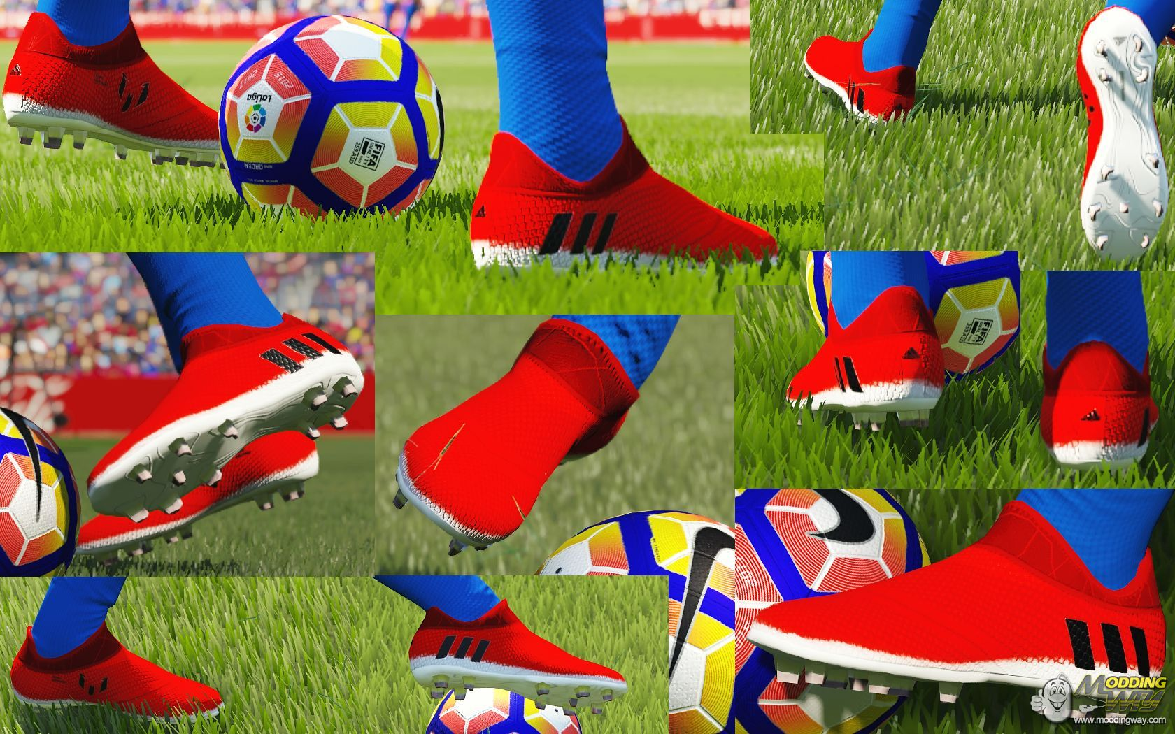 Escarpado director bronce  Adidas Messi 16+ Pureagility Red Limit by Barrysun (Nabo78 editing) - FIFA  16 at ModdingWay