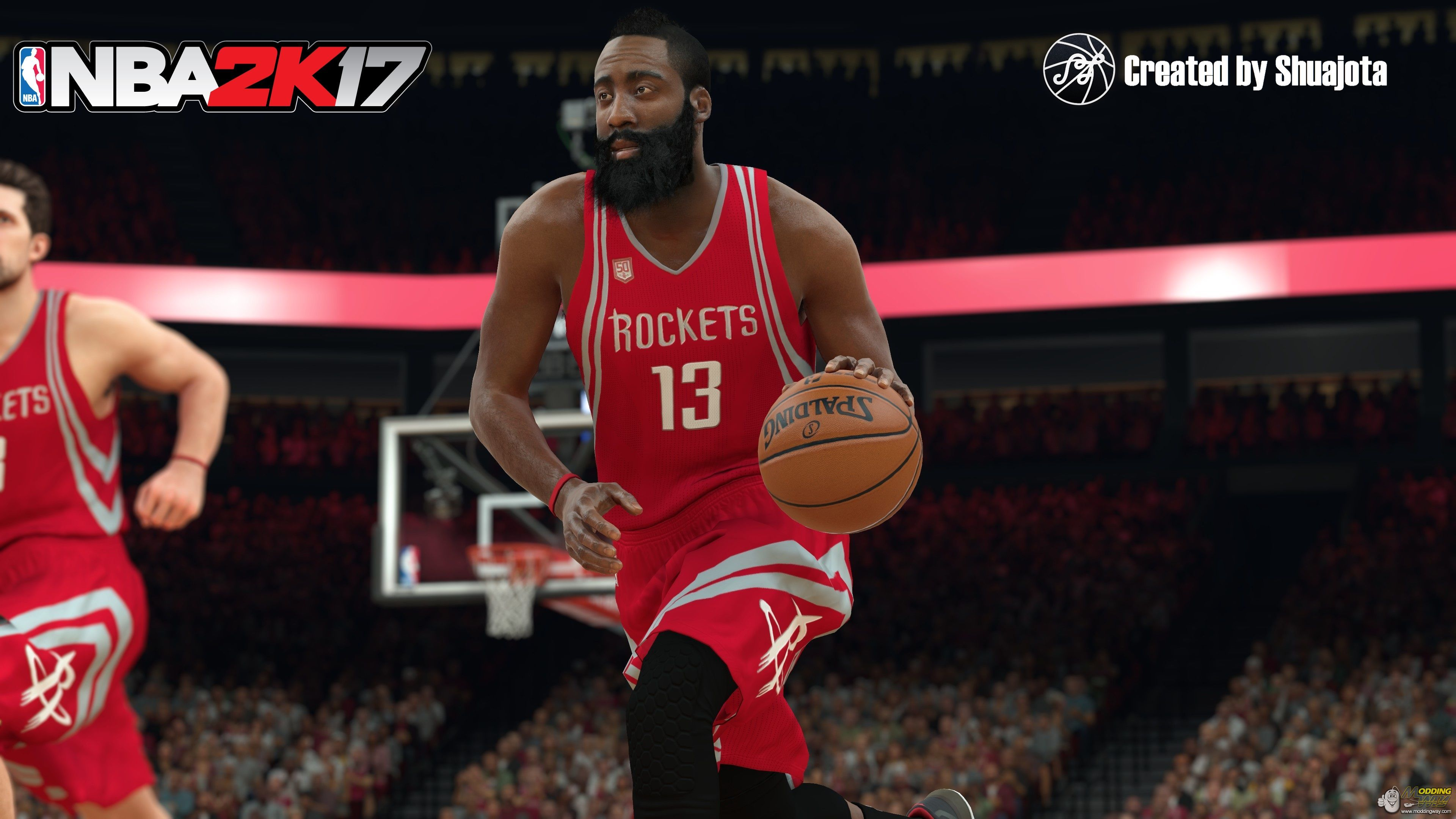 promo code 2dffa a4938 Houston Rockets Away Authentic Jersey - NBA 2K17 at ModdingWay
