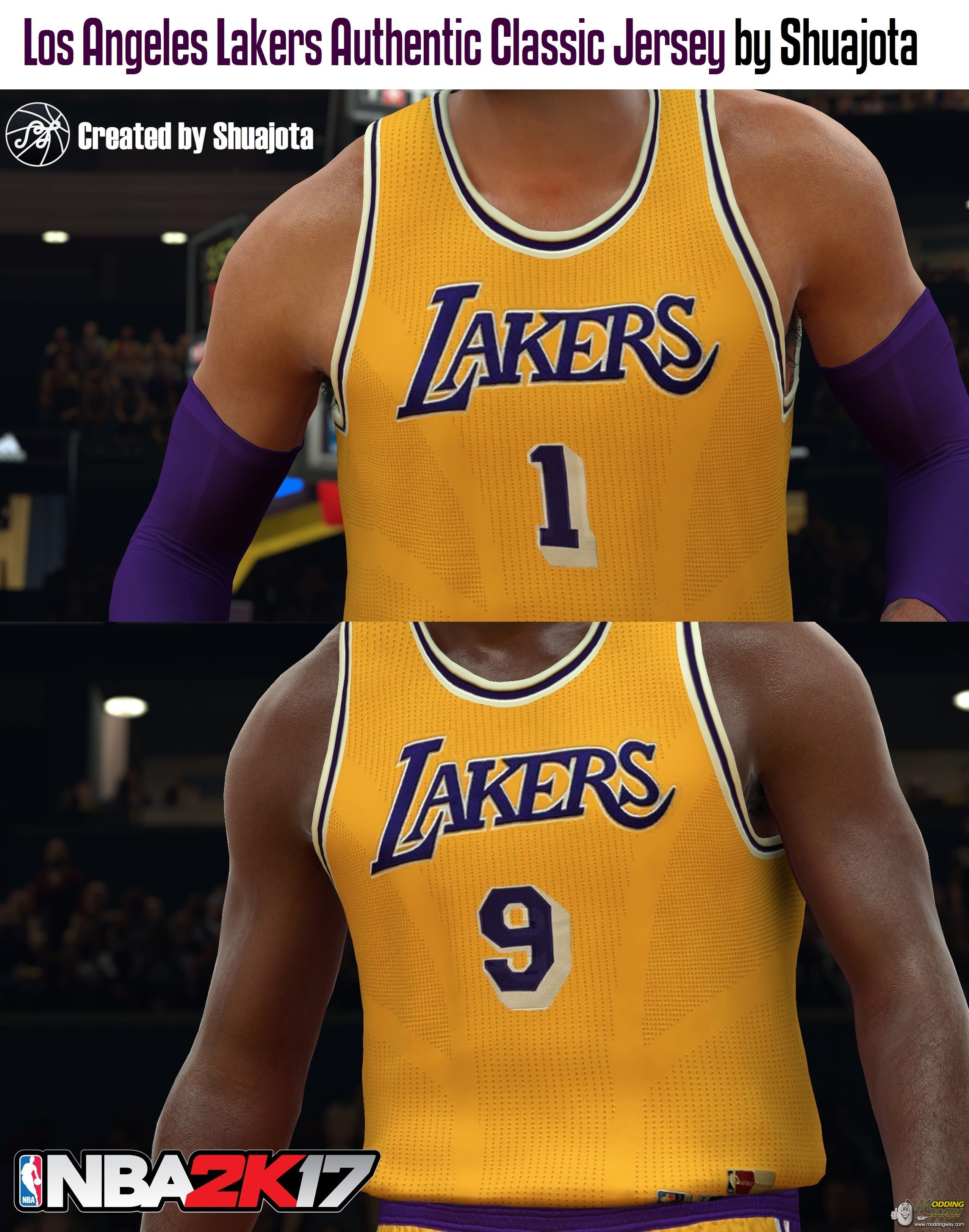 finest selection 3b053 f2ae4 Los Angeles Lakers Authentic Classic Jersey - NBA 2K17 at ...