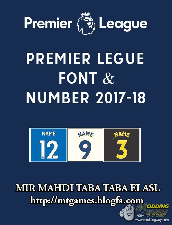 united kingdom low cost authorized site Premier League Font & Numbers 2018 - Pro Evolution Soccer ...