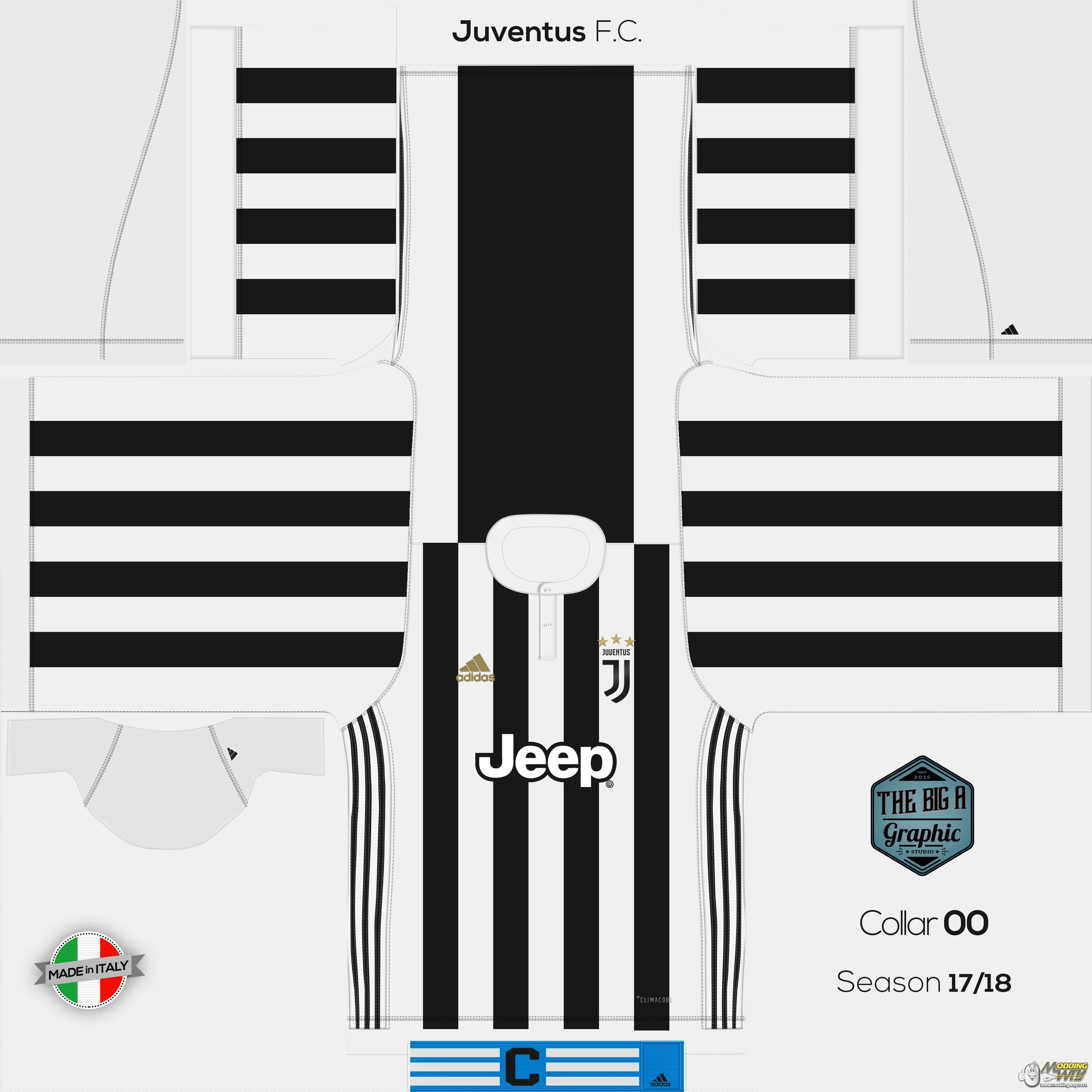 low priced 3f5b9 1c578 Juventus 17/18 Home Kit - FIFA 14 at ModdingWay