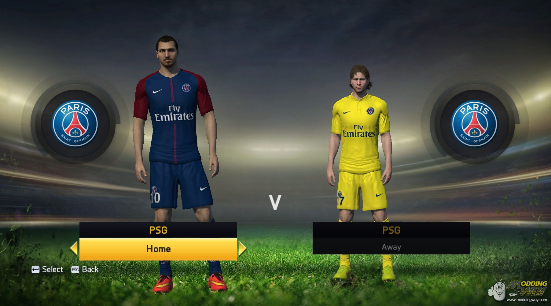 on sale c05cd 260a4 PSG 2017/18 Kits Pack by Fifa Modders - FIFA 15 at ModdingWay
