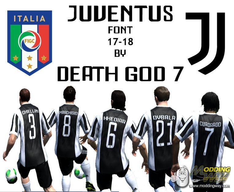 super popular 30c54 d0121 Juventus Home Kit 17-18 with Kit Number and Font - FIFA 14