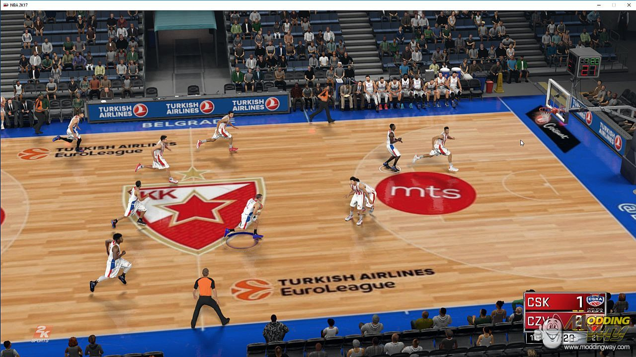 Courts Euroleague and Eurocup 2016-17 - NBA 2K17 at ModdingWay