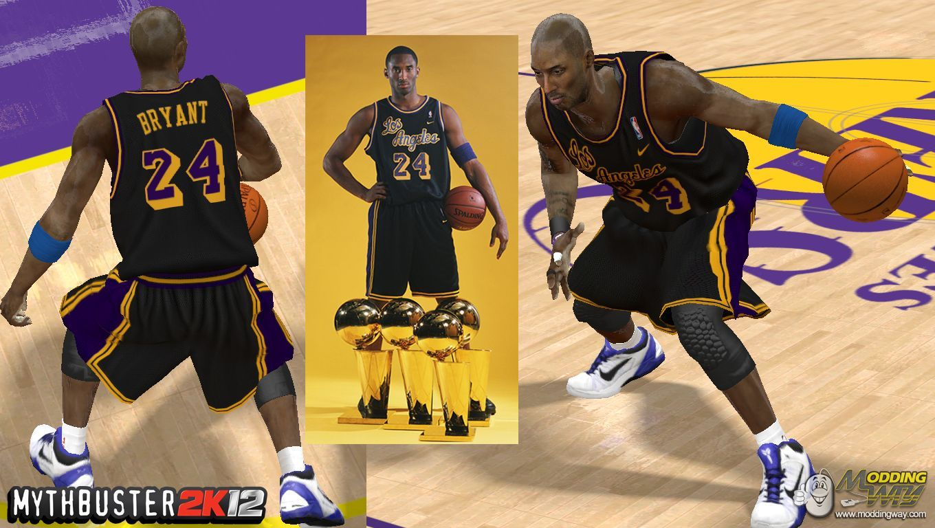 d30fd4a43 Nike Lakers Throwback Jersey (NEW LINK) - NBA 2K12 at ModdingWay