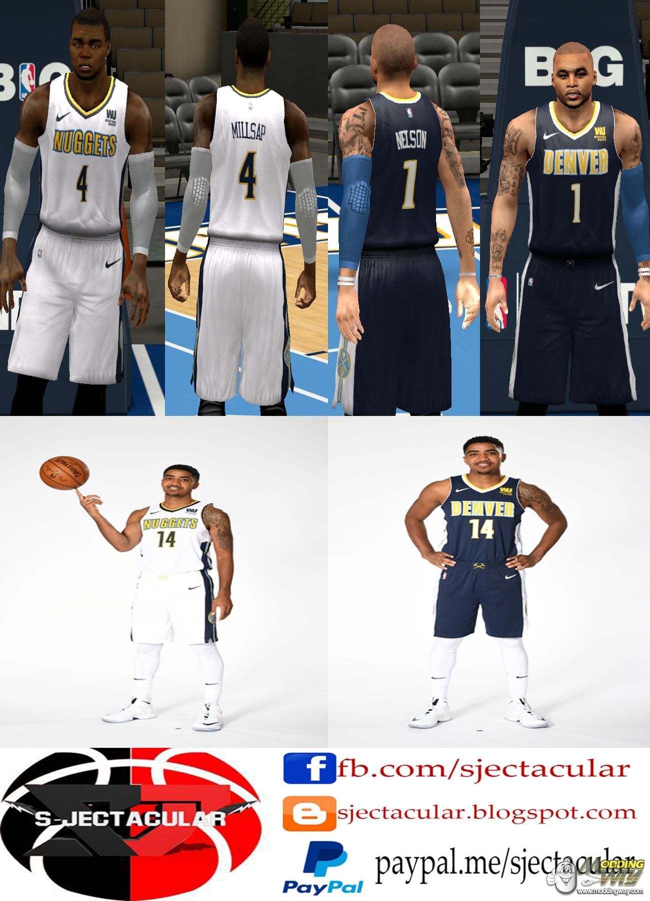 wholesale dealer c9a91 86a15 Denver Nuggets 2018 Official Jersey - NBA 2K14
