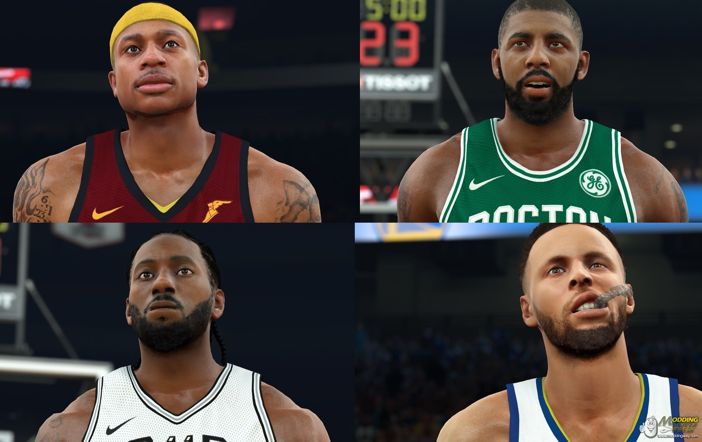 NBA 2K17 ROSTER UPDATE WITH NBA 2K18 RATINGS RELEASED - NBA