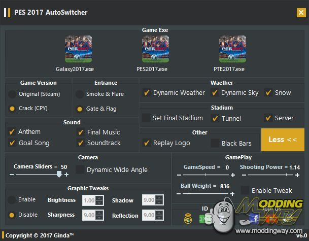 PES 2017 AutoSwitcher v6 0 [AIO-FINAL] by Ginda01 - Pro