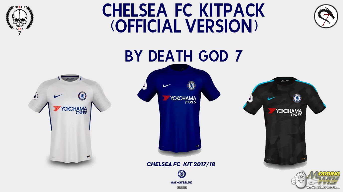 NEW NIKE CHELSEA KITS 17-18(Official Version) - FIFA 14 at ModdingWay c3c445152