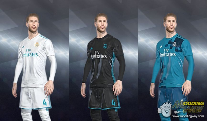 79681d22a Real Madrid 2017-2018 CPK Kits - Pro Evolution Soccer 2018 at ModdingWay