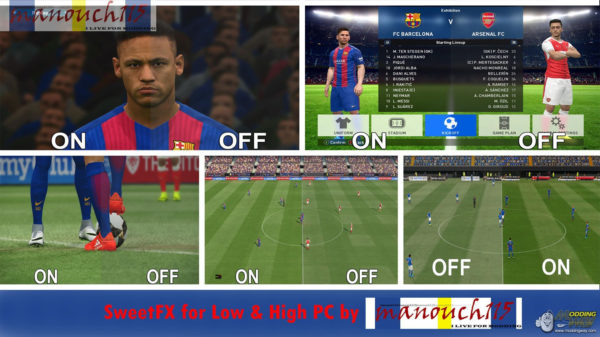 SweetFX for Low & High PC by manouch 115 - Pro Evolution Soccer 2017
