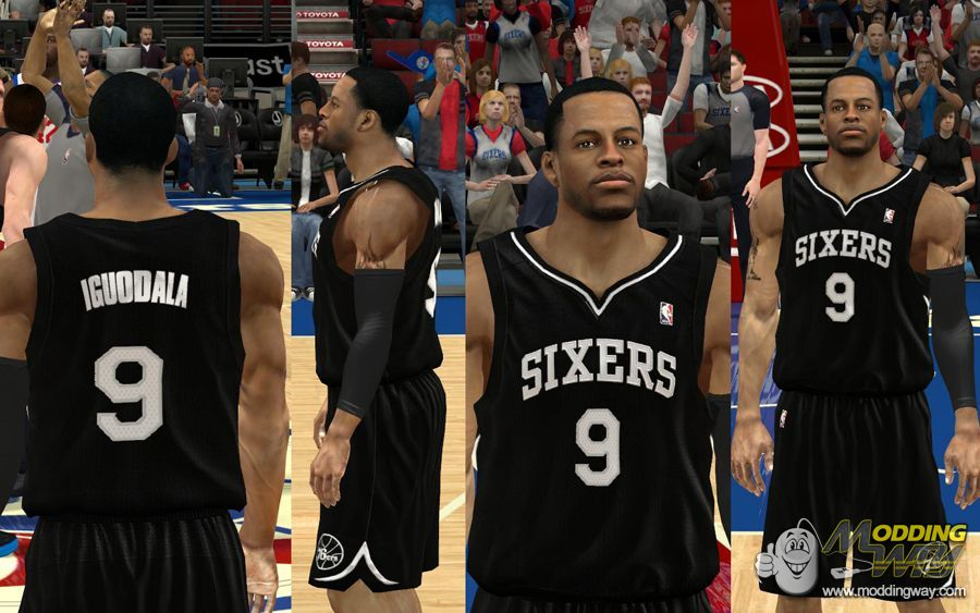0b53122a6 76ers Back in Black Jersey (Fictional) - NBA 2K12 at ModdingWay