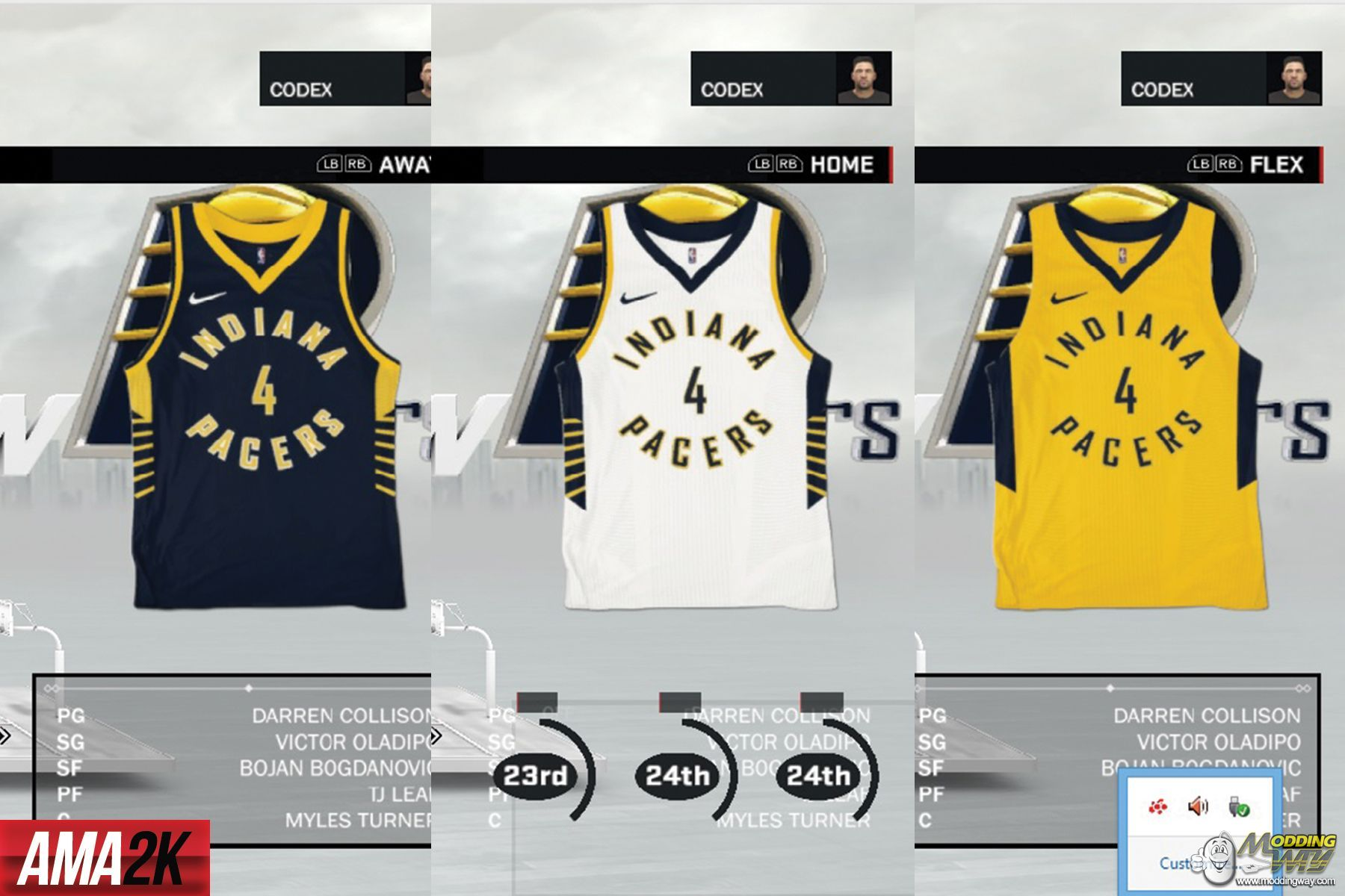 ce3f7b543057 ... greece indiana pacers realistic jersey icons home away statement 2018  nba 2k17 at moddingway 0adf3 14c49