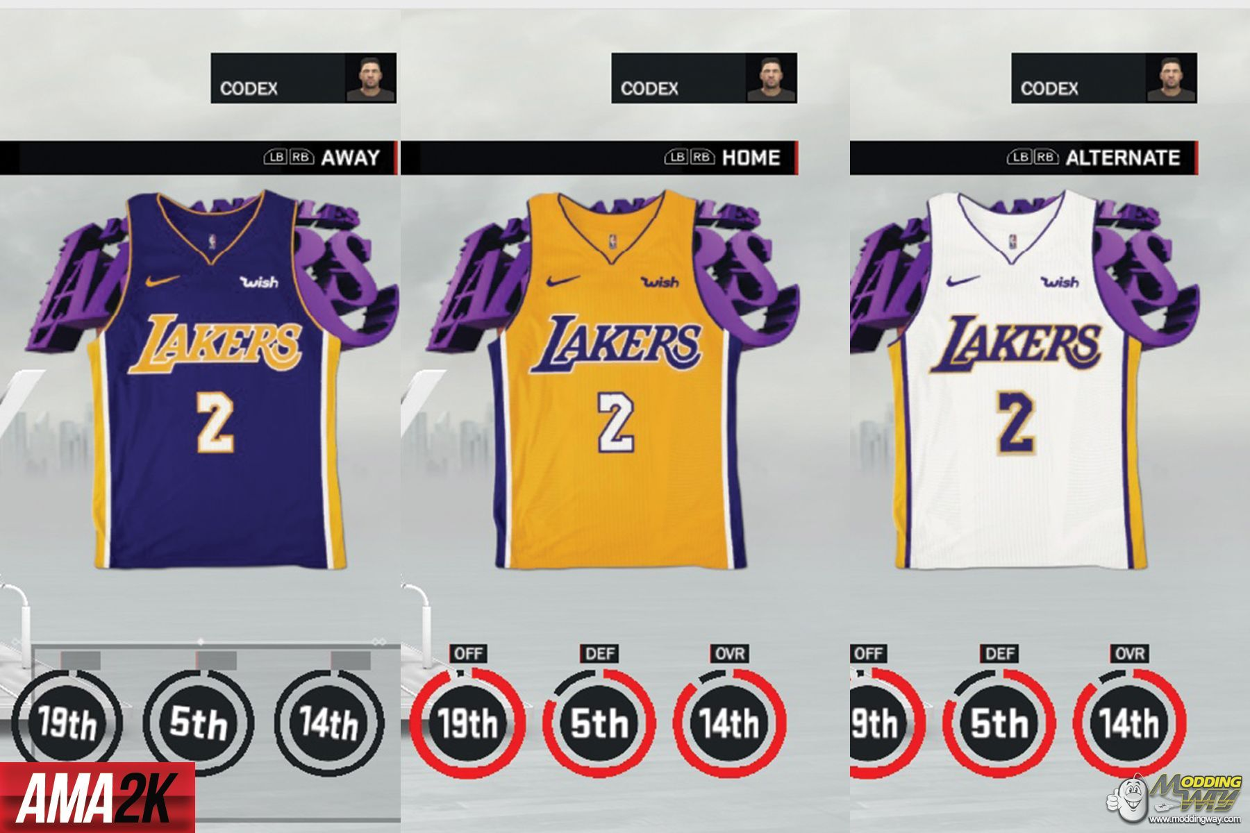 f26928c9af1 ... purple fa952 db257; italy nba 2k17 jerseys los angeles lakers realistic  jersey icons home away statement 2018 nba 2k17