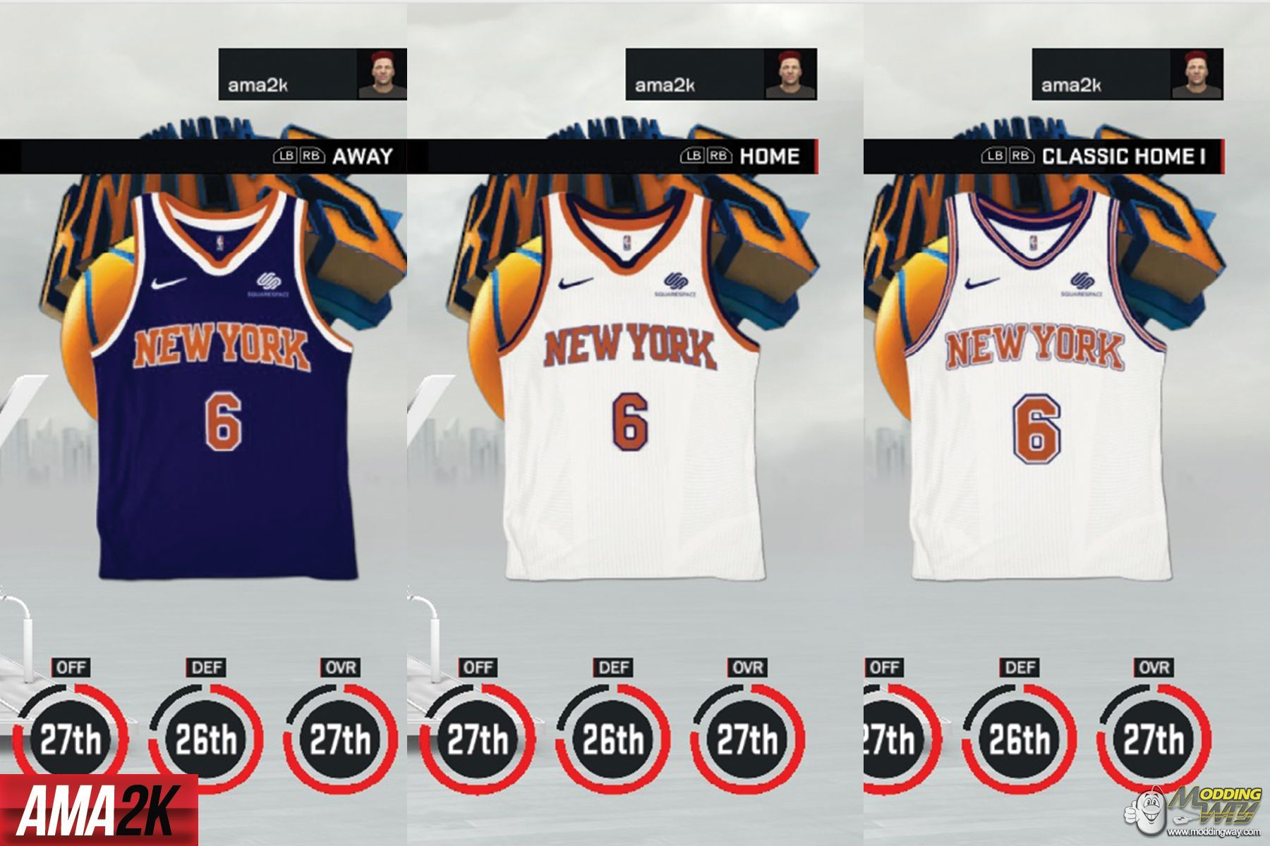 low priced 37d72 c5ec0 New York Knicks Realistic Jersey Icons (Home, Away ...