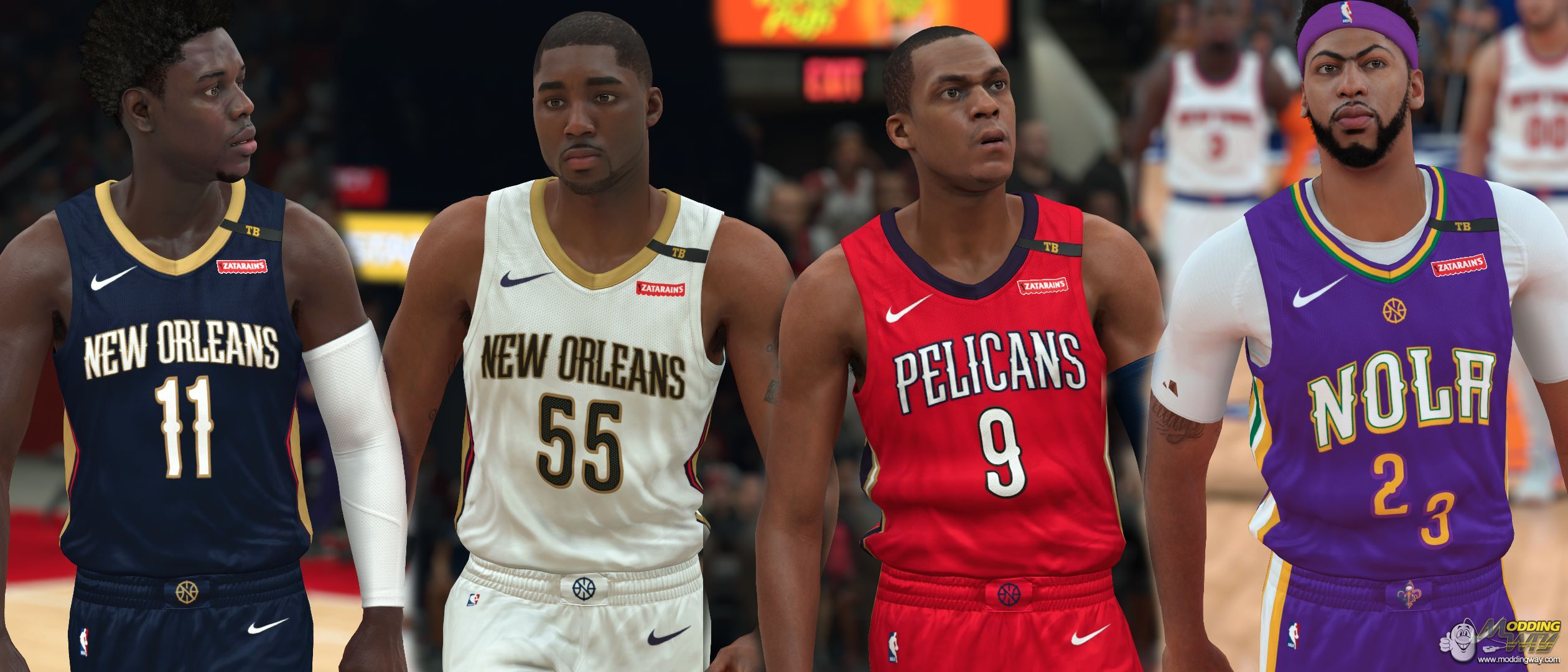 35102603f New Orleans Pelicans jersey with TB patch - NBA 2K18 at ModdingWay