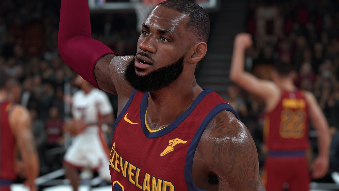 detailed pictures 8d337 91f20 Lebron James {face sweating fix} - NBA 2K18 at ModdingWay