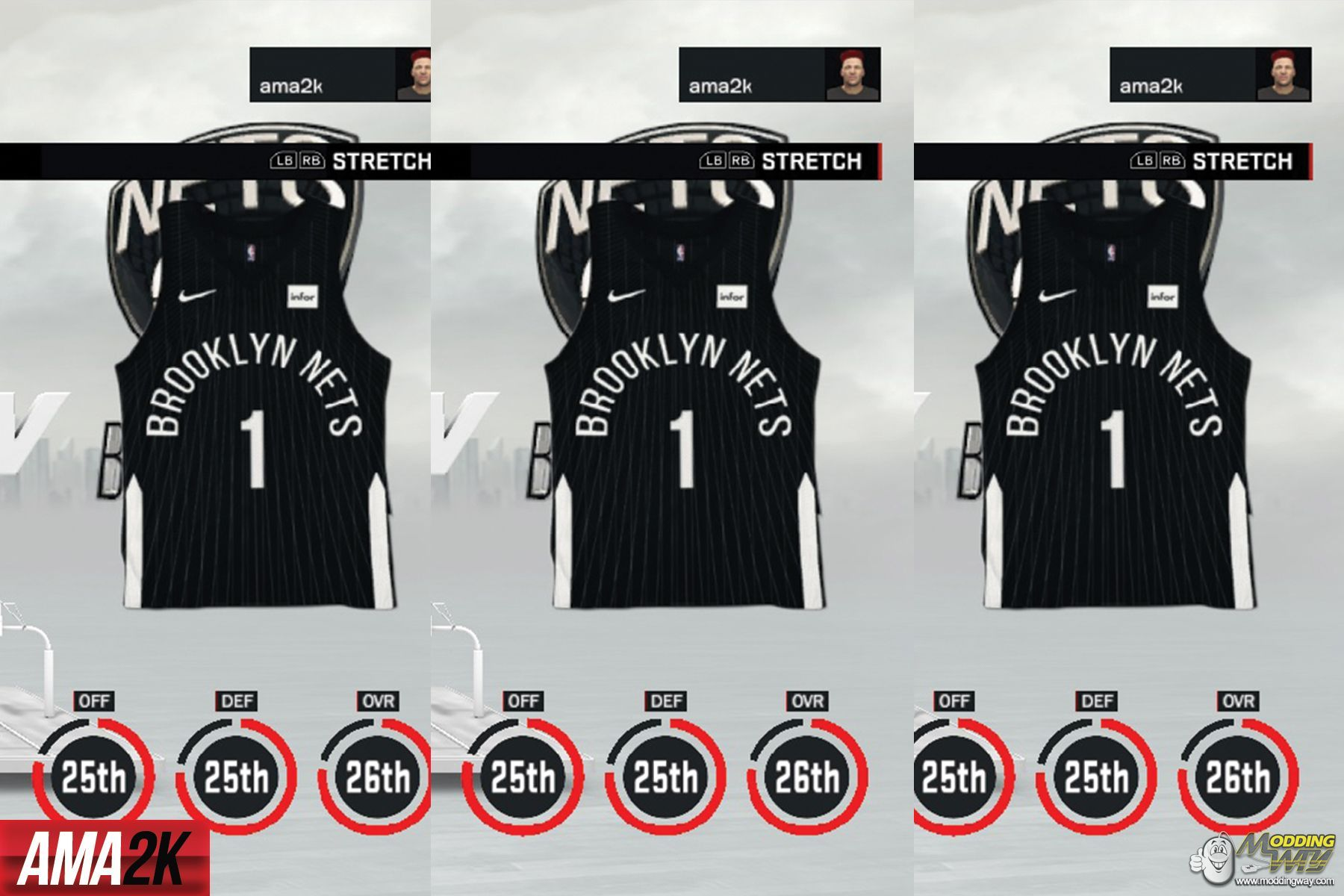 official photos aab5d 51286 Brooklyn Nets City Edition Jersey Icon - NBA 2K17