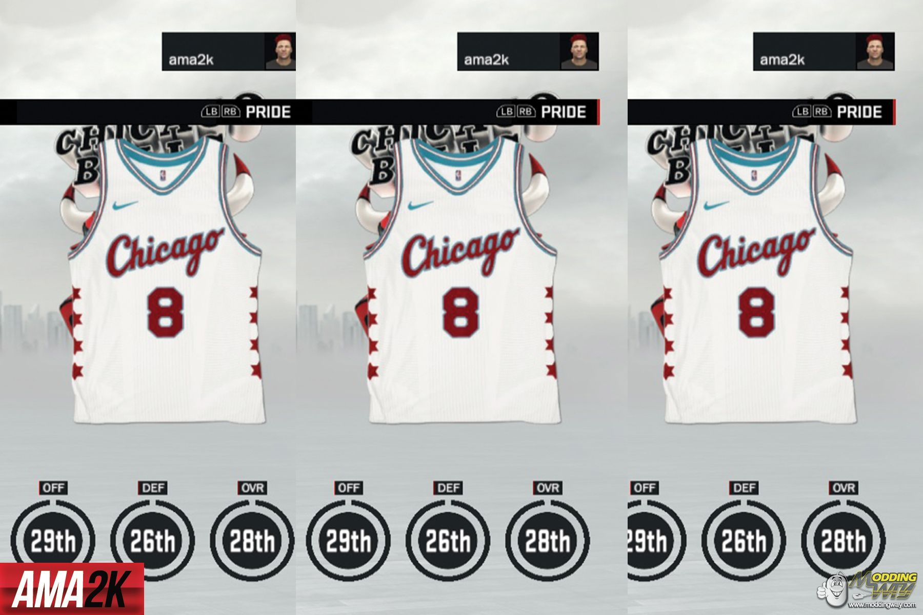 wholesale dealer 7b110 455b1 Chicago Bulls City Edition Jersey Icon - NBA 2K17