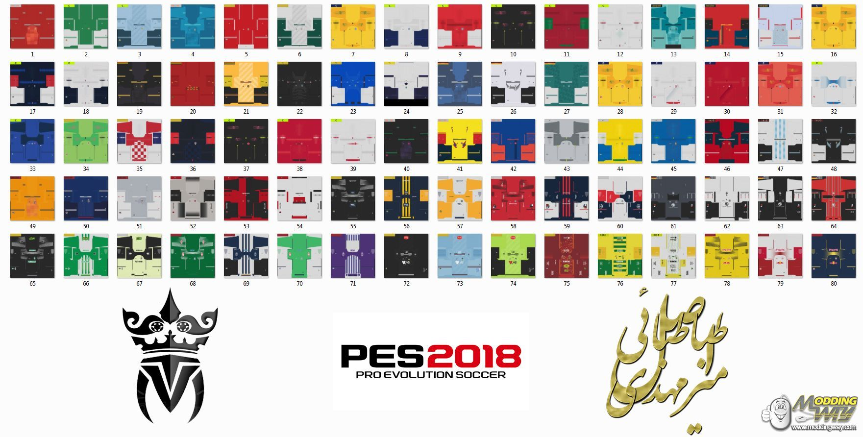 PES 2018 DLC 4 0 Kits Extracted by MT Games - Pro Evolution