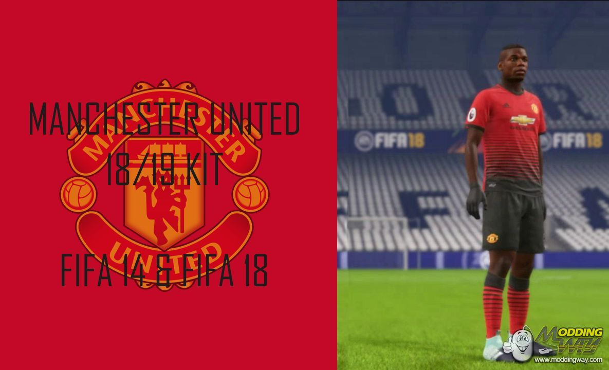 2403248680c7 Manchester United 18-19 Home Kit (Official Version) - FIFA 18 at ModdingWay