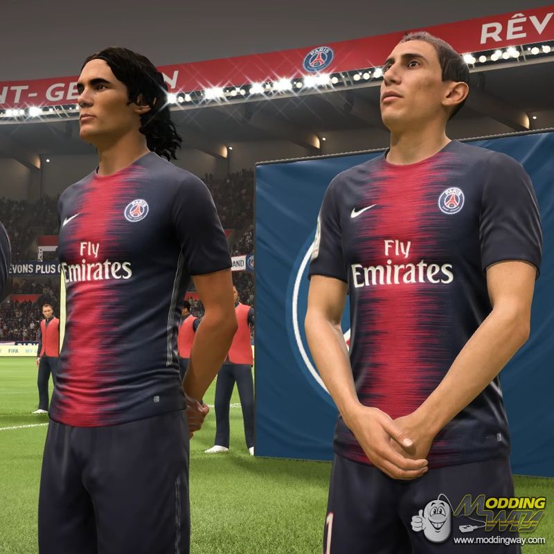 new style b2ab9 a9bcc PSG 18/19 Kitpack - FIFA 18 at ModdingWay