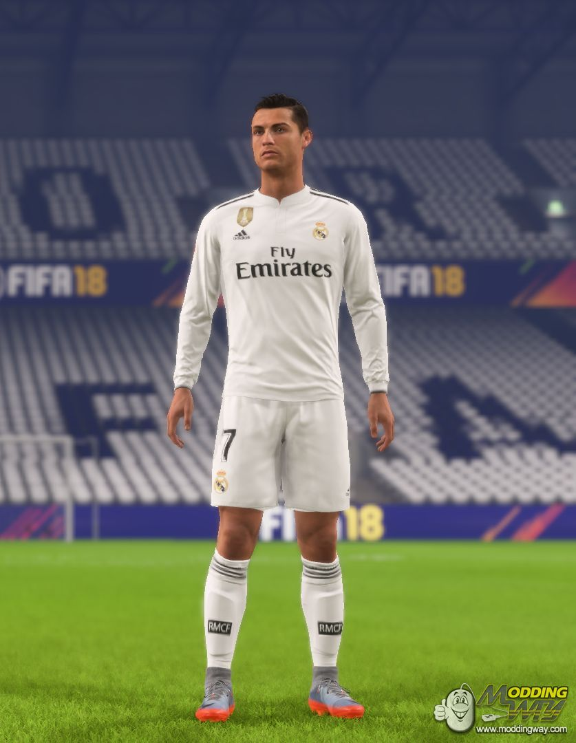 sports shoes bef22 67f82 Real Madrid home kit 18-19 - FIFA 18 at ModdingWay