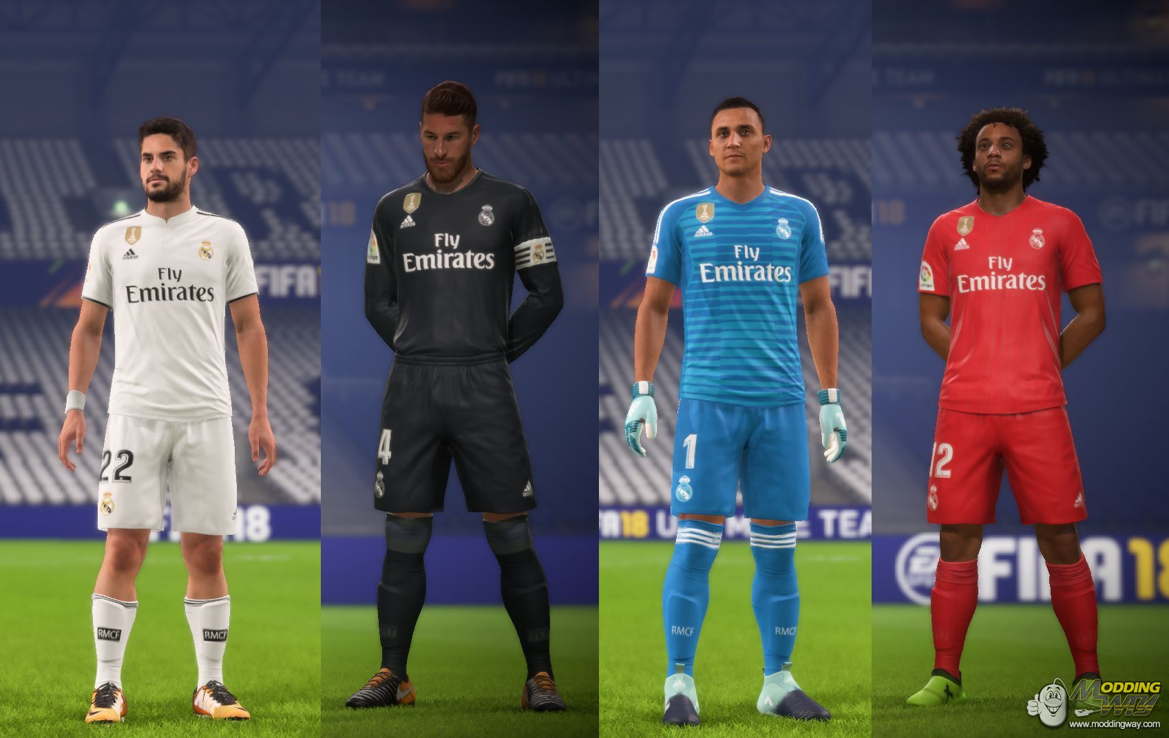 sneakers for cheap 13c76 07e97 Real Madrid kitpack 18-19 - FIFA 18 at ModdingWay