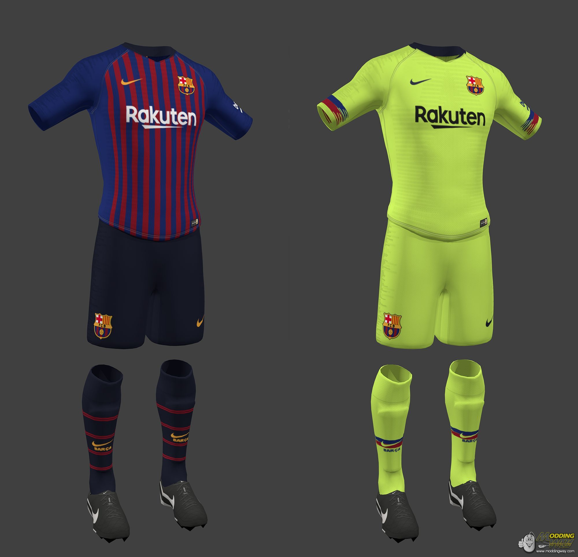 check out d4ce9 91f7e FC Barcelona Kit Pack Home , Away 2018-19 - FIFA 16 at ...