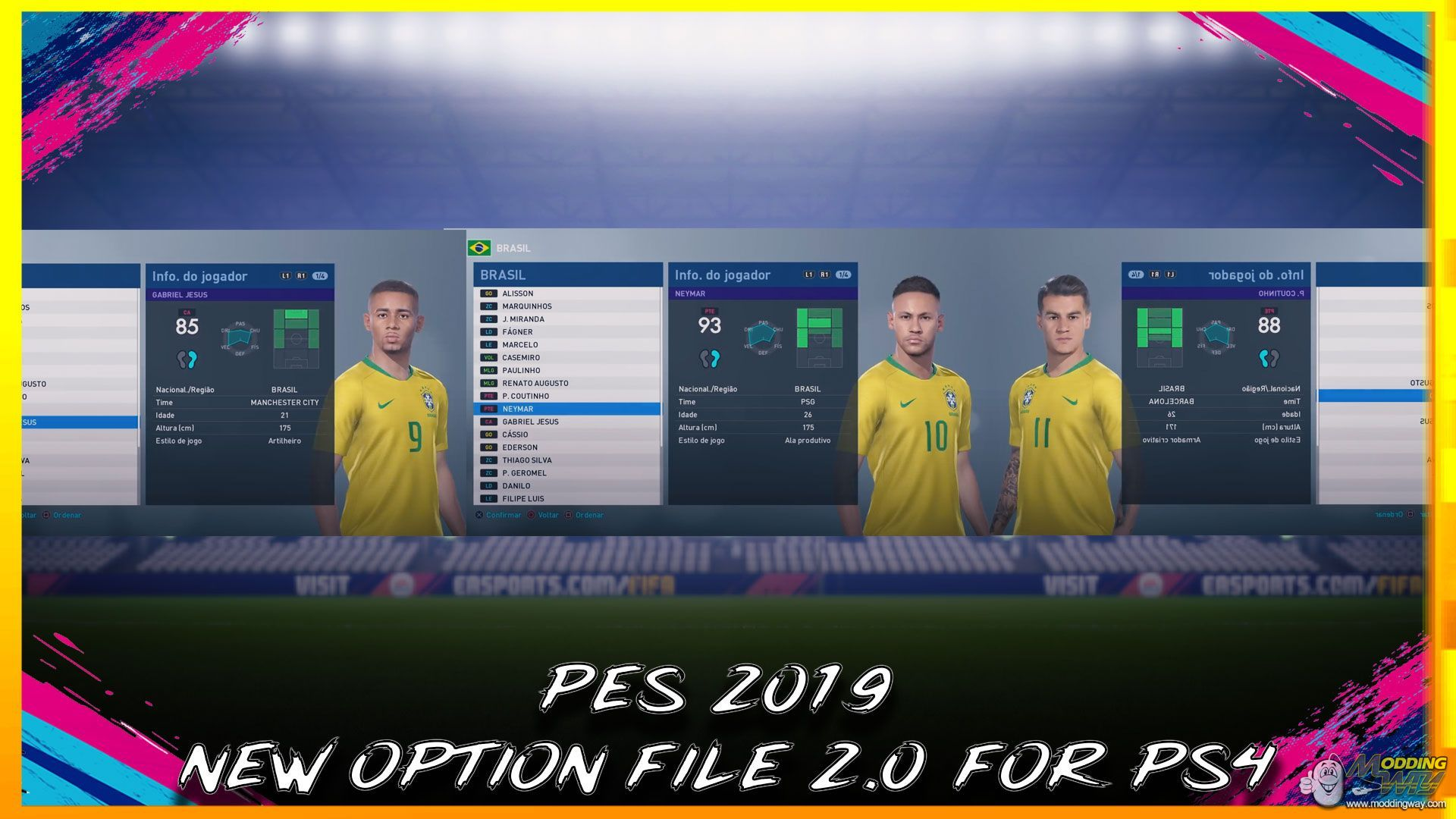 PES 2019 | NEW OPTION FILES UPDATE 2 0 FOR PS4 #BHSDESIGNER - Pro