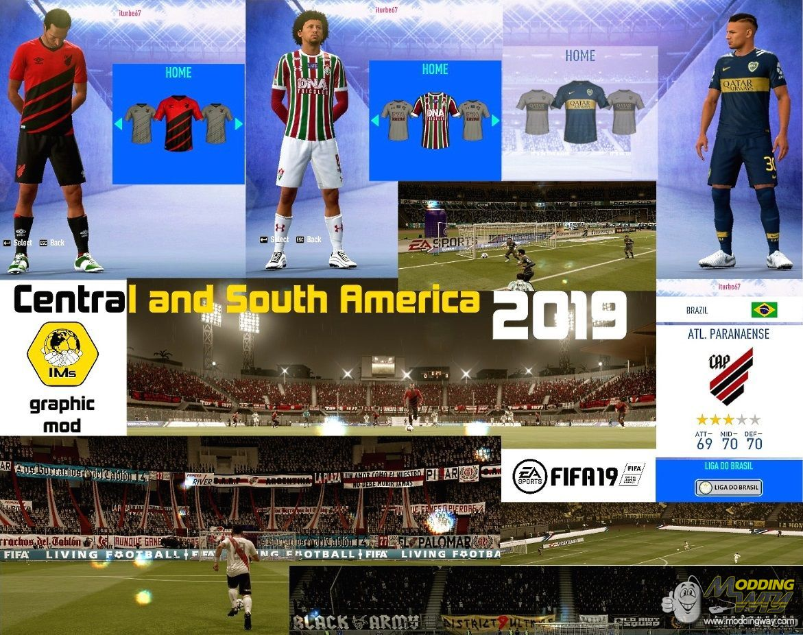 South,Central and North Americas mod - FIFA 19 at ModdingWay