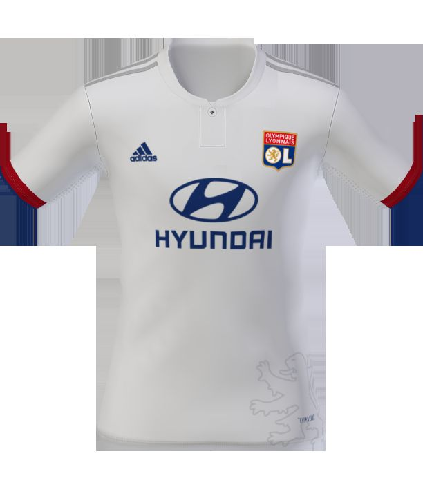 lowest price 9e5e7 a856d Olympique Lyon 19-20 Home and Away Kits V0.5 - Pro Evolution ...