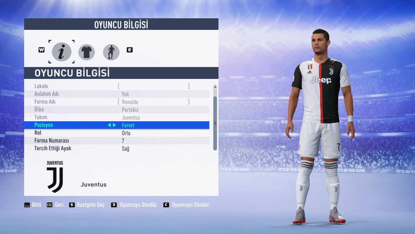 promo code d7b03 137e4 Juventus 2019-20 Home Kit V0.1 - FIFA 19 at ModdingWay