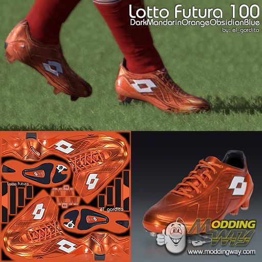 Lotto Futura 100 Dark Mandarin Orange Obsidian Blue - FIFA 12 at ModdingWay fb0c13699b72