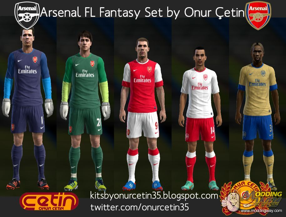 35ba67d5d Arsenal Fantasy (with 12-13 Nike Temp) - Pro Evolution Soccer 2013 at  ModdingWay