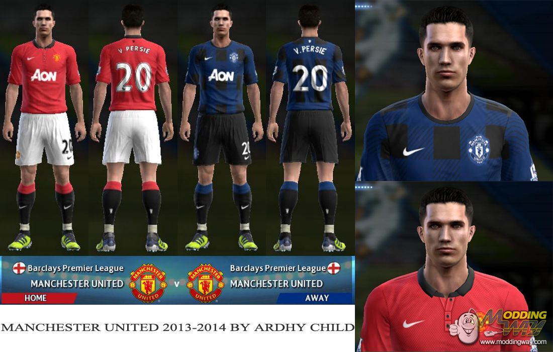 443c116d97b Manchester United 2013-2014 - Pro Evolution Soccer 2013 at ModdingWay