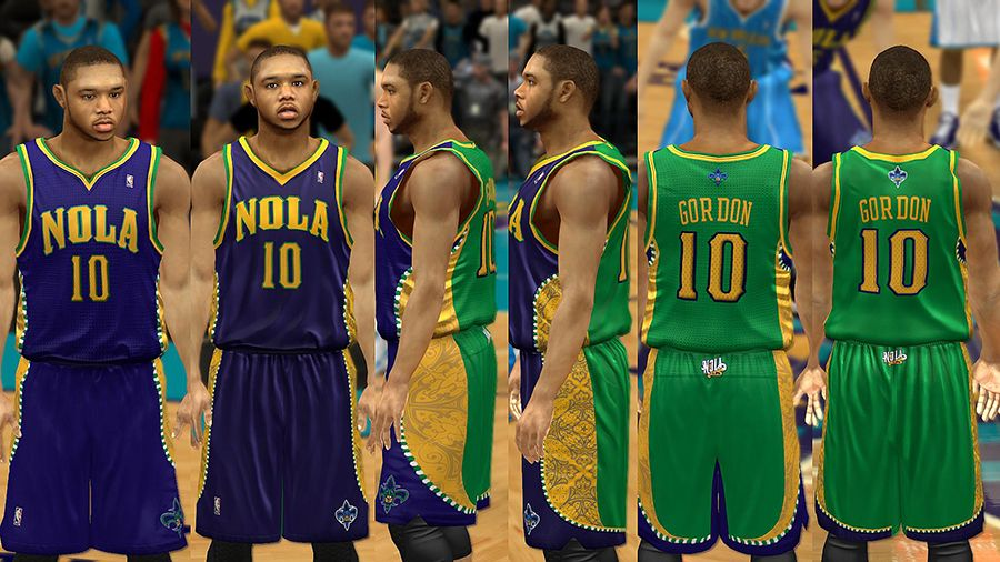 New Orleans Hornets Jersey With Crowd Fixed Nba 2k13 At