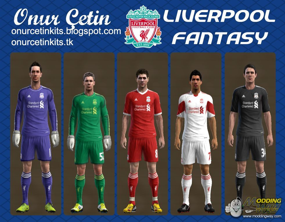 538eb0984 Liverpool Fantasy (with 13-14 Adidas Template) - Pro Evolution Soccer 2013  at ModdingWay