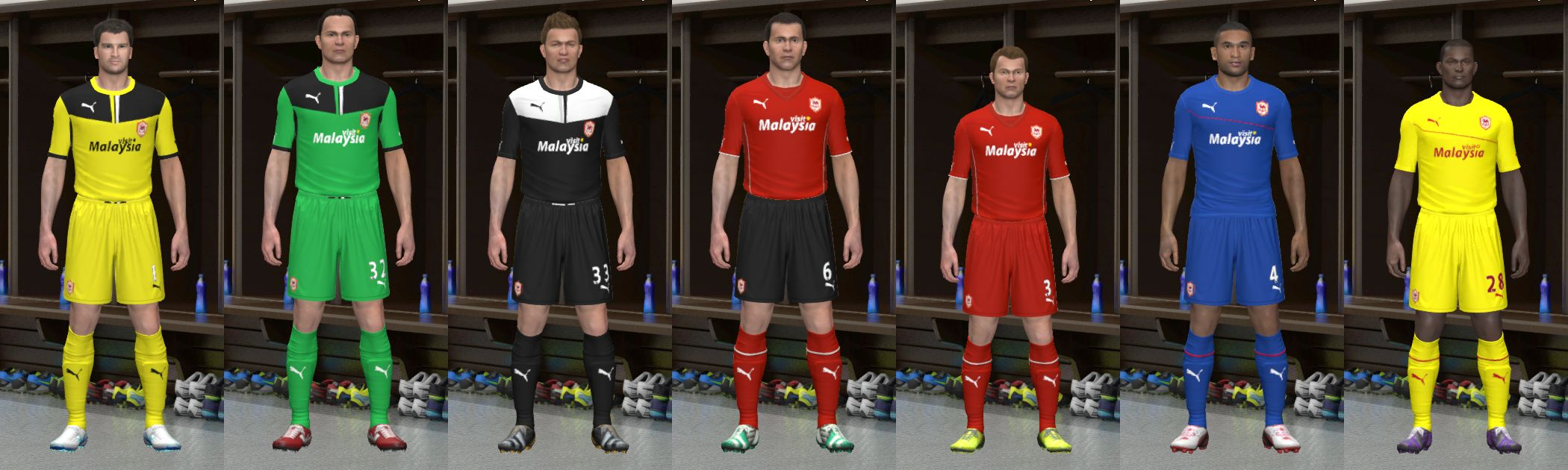 Cardiff City 13/14 Kit Set Update 1 - Pro Evolution Soccer 2014 at