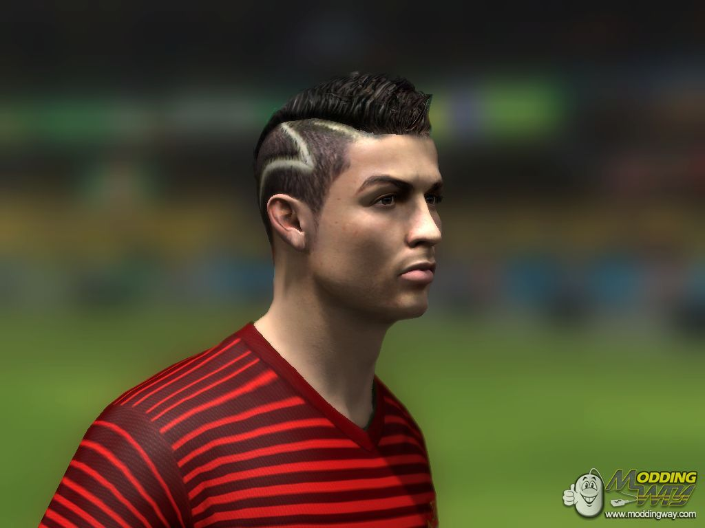 Awesome Cr7 Hairstyle Update By Me Fifa 14 At Moddingway Natural Hairstyles Runnerswayorg