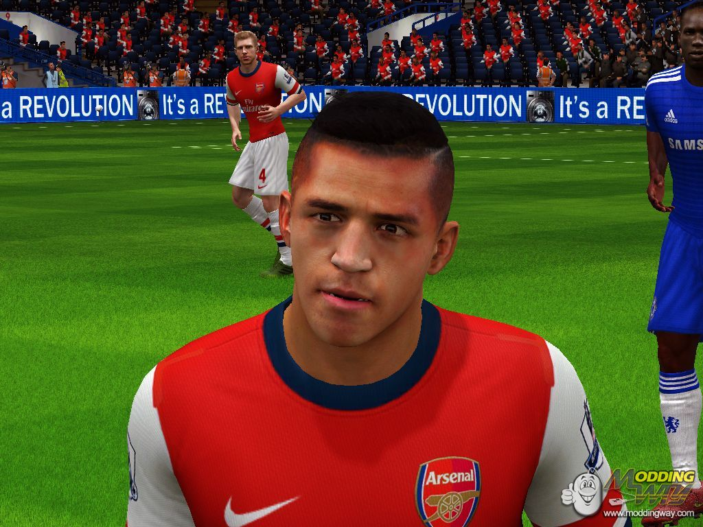 Alexis Sanchez New Hairstyle - FIFA 14 at ModdingWay