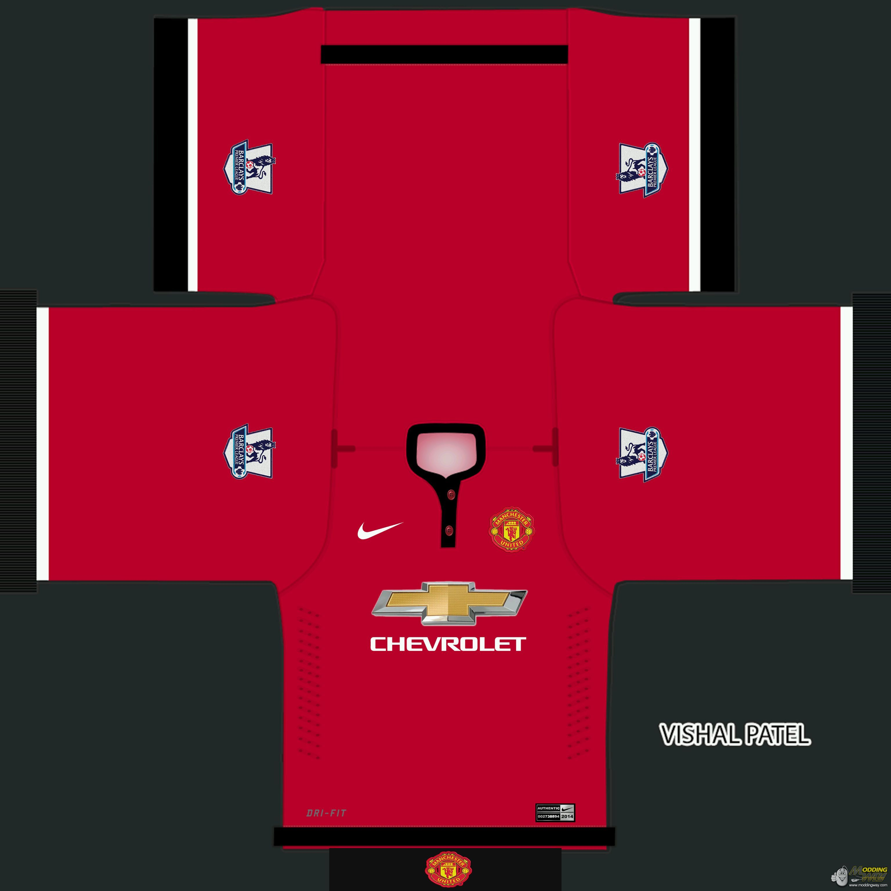 Fifa 14 Hungary Home: Manchester United 2014/2015 Home Kit